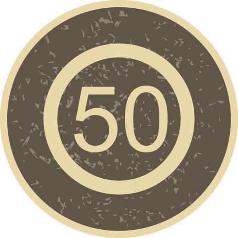 Vektor Hastighetsgräns 50 Ikon