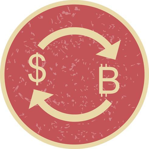 Cambiar Bitcoin Con Dólar Vector Icon