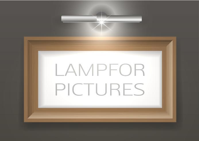 Lâmpada para uma foto