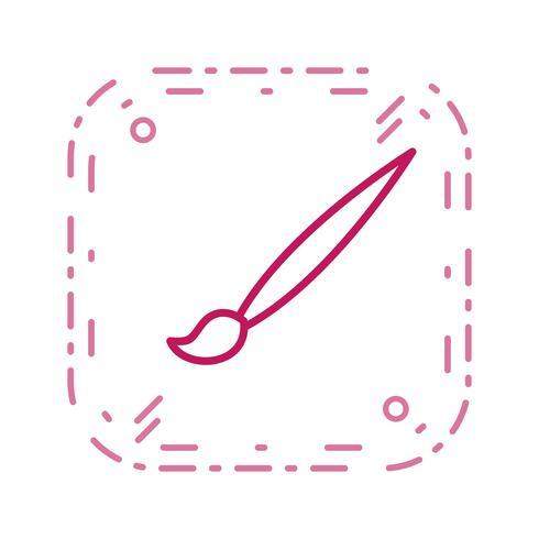 Tecknadborste vektor ikon