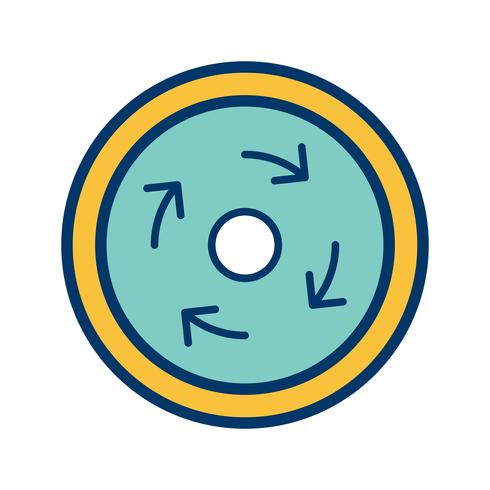 Icono de rotonda obligatoria de vector