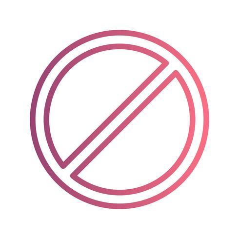 Icono de vector prohibido