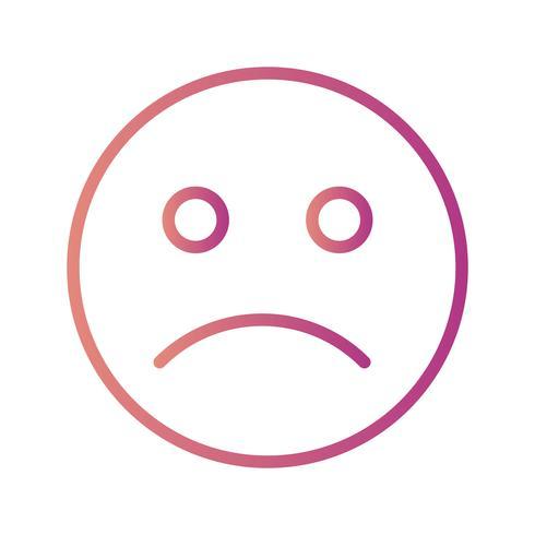 Icono de Vector de emoticon triste