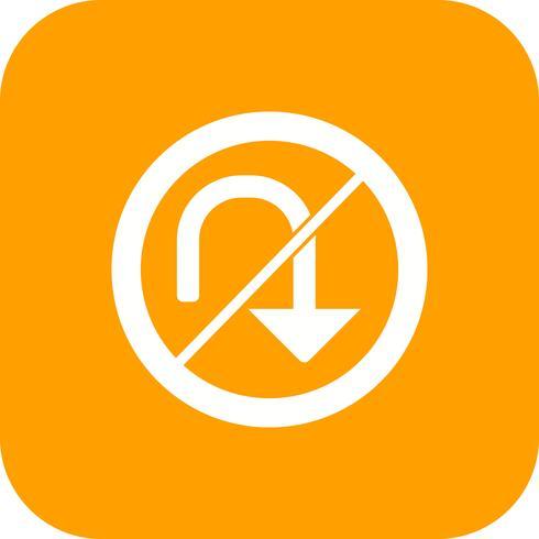 vektor ingen u-sväng ikon