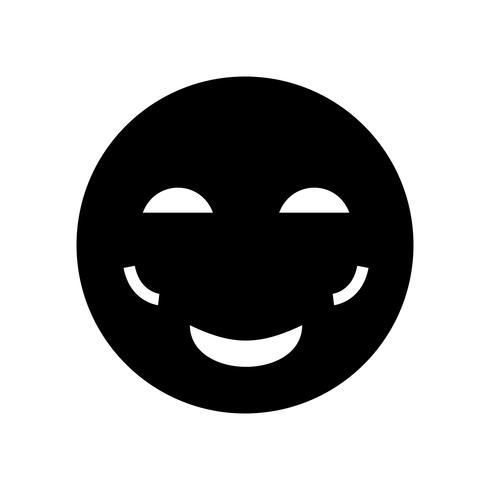 Blush Emoji Vector Icon