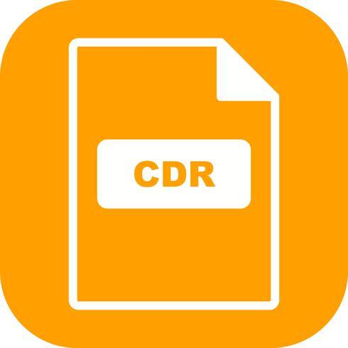 icono de vector cdr
