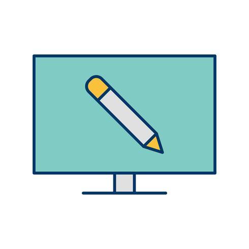 Icône de vecteur de l'éducation en ligne