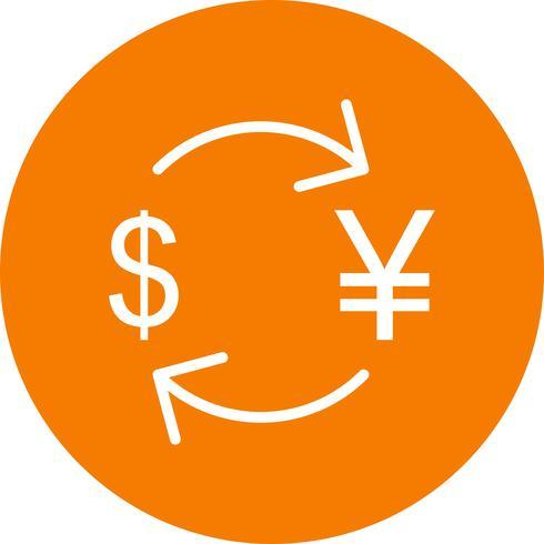 Byt yen med Dollar Vector Icon