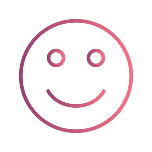 Glad Emoji Vector Icon