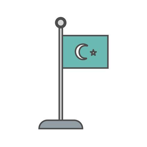 islamisk flagg vektor ikon