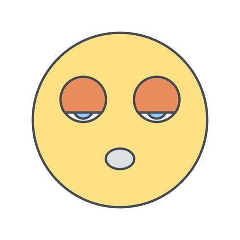 Slaap Emoji Vector Icon