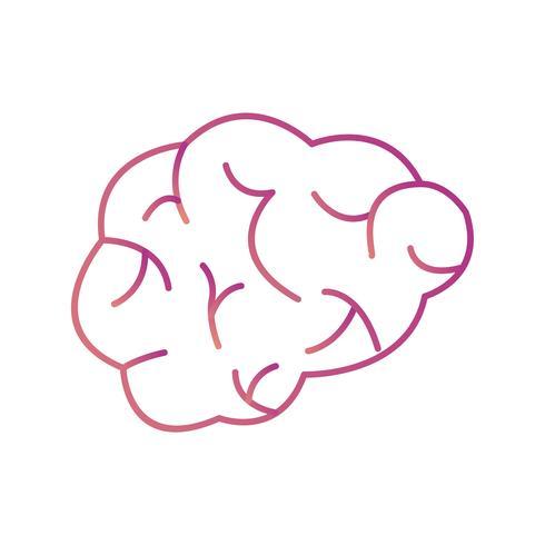 Icono de Vector de cerebro
