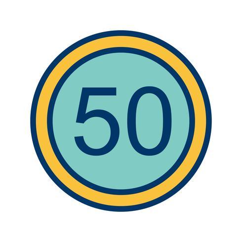 Icona limite di velocità 50