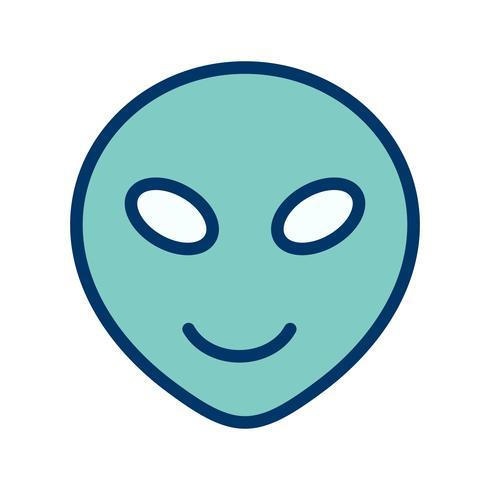 icono de vector emoji alien