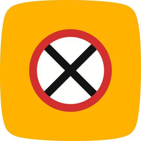 Vector weg gesloten pictogram