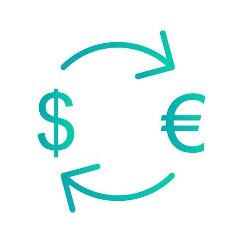 Austausch-Euro mit Dollar-Vektor-Ikone