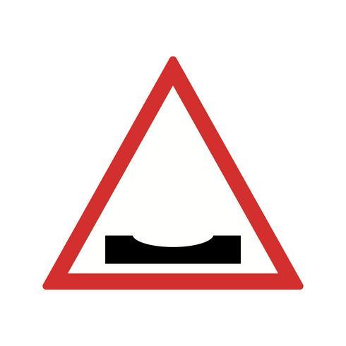 Vector estrada mergulha ícone