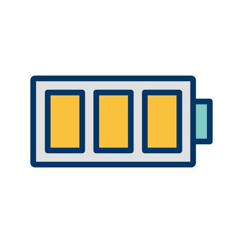 Full batteri vektor ikon