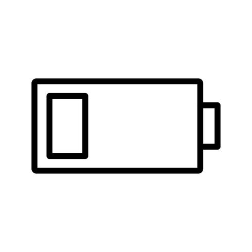 Low Battery Vector Icon