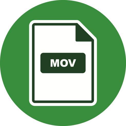 Icona di vettore MOV