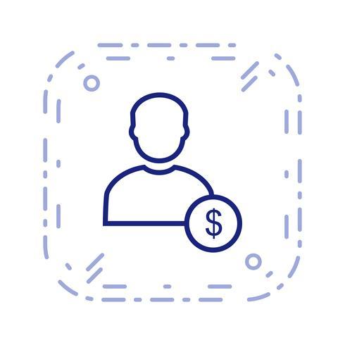 Dollar Med Man Vektor Ikon