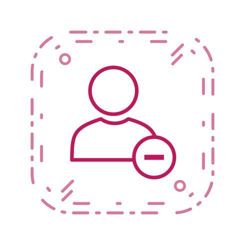 Bloquear ícone de vetor de usuário