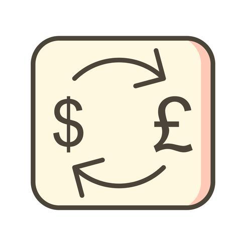 Icono de Vector de libra de cambio con dólar