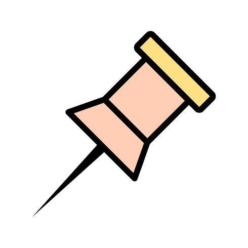 Observe o ícone do vetor de pin