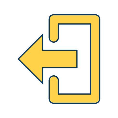 Icona di logout vettoriale