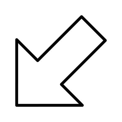 Vectorpictogram links naar beneden