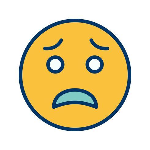 rädd emoji vektorikonen