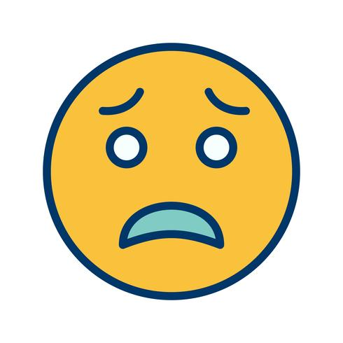 Scared Emoji Vector Icon