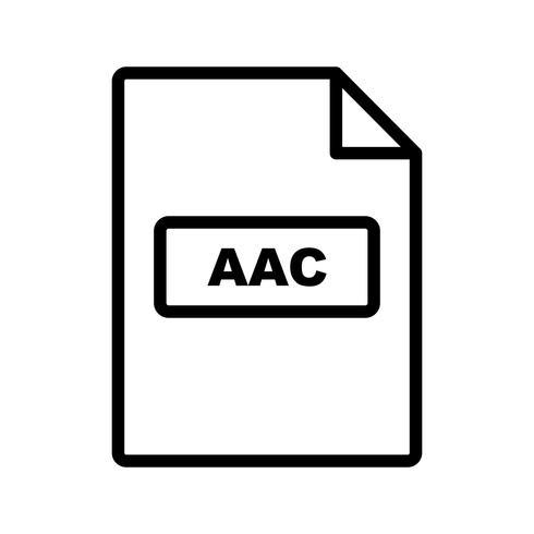 icône de vecteur aac
