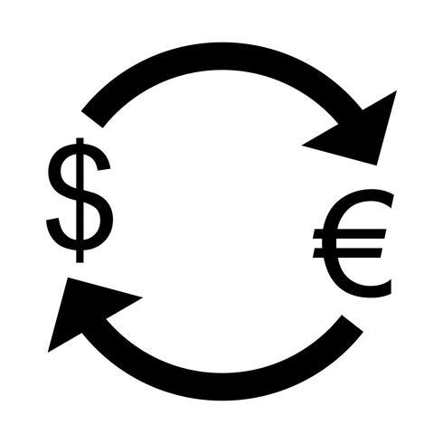 Byt Euro med Dollar Vector Icon