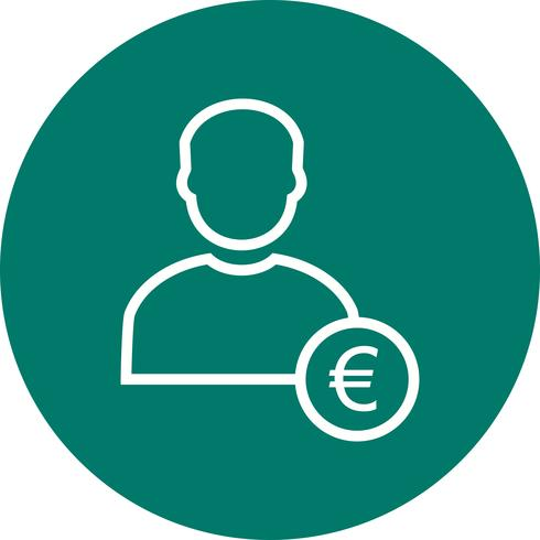 Euro med man vektor ikon