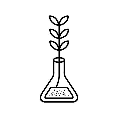 experiment tillväxt vektor ikon