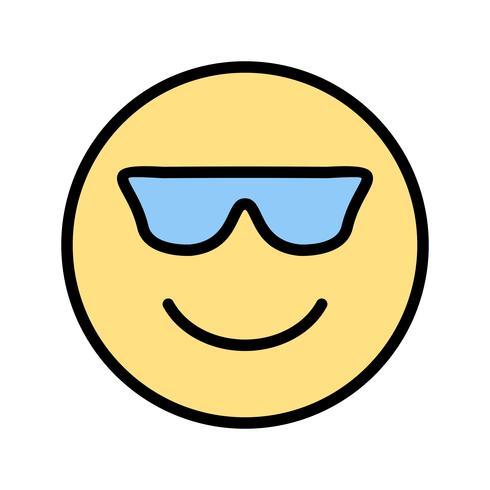 Ícone legal do vetor de Emoji