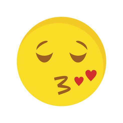 Kuss Emoji-Vektor-Symbol