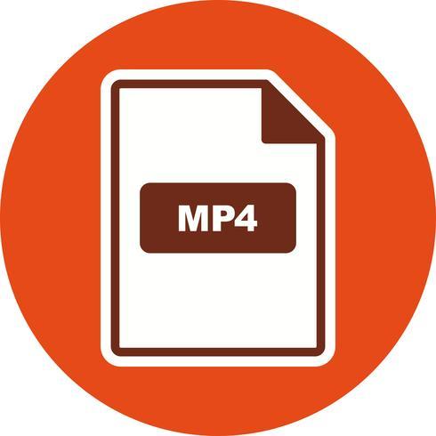Icône de vecteur MP4