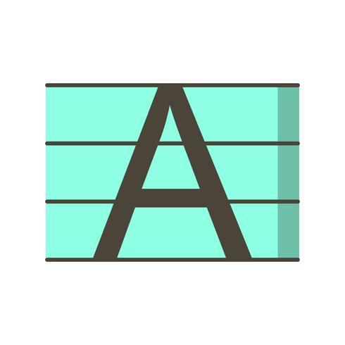 Upercase-Vektor-Symbol