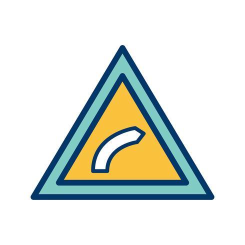 Vektor-Rechtsbiegungssymbol