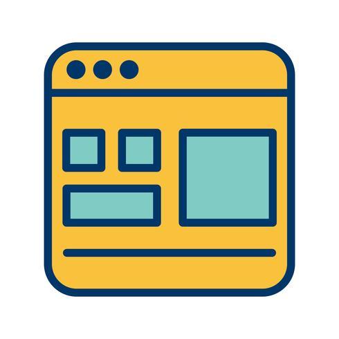 Mall vektor ikon