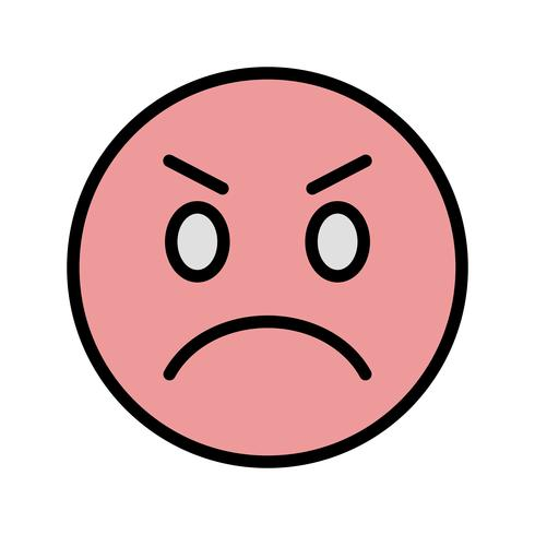 Angry Emoji Vector Icon - Download Free Vectors, Clipart