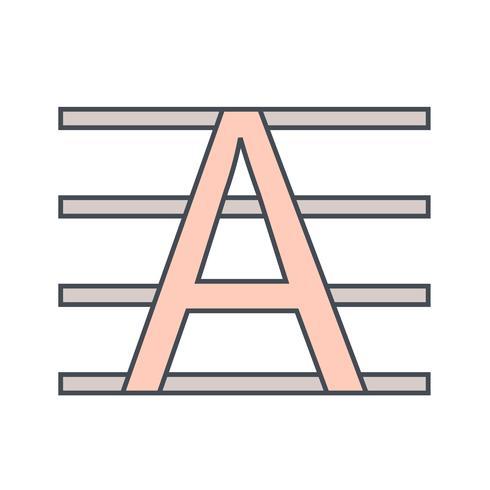 Icono de vector en mayúsculas
