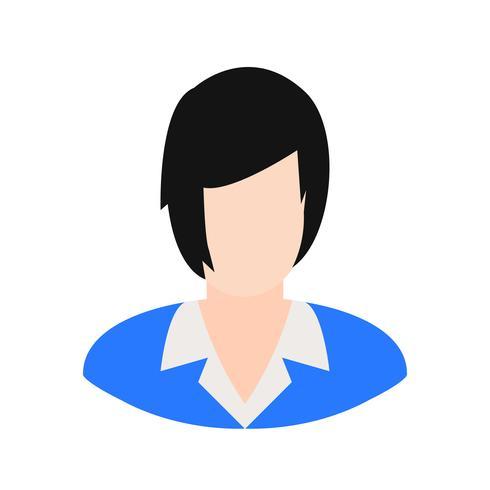 Weibliche Wissenschaftler Vektor Icon
