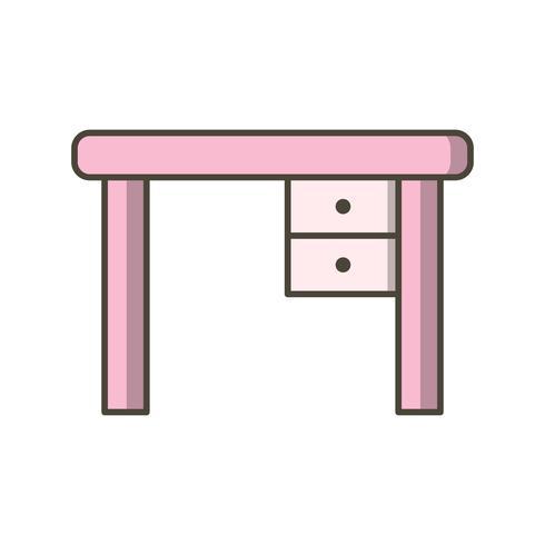 Icono de Vector de mesa de estudio