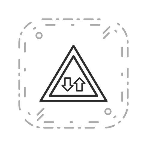 Vektor Tvåvägstrafik Ikon