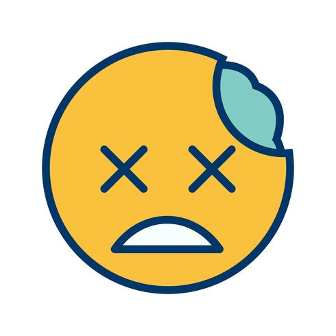zombie emoji vektorikonen