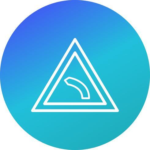 Vektor Linkskurve Symbol