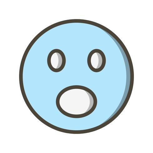 Surprised Emoji Vector Icon